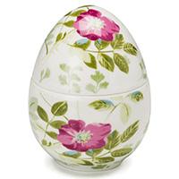 Керамическая шкатулка-яйцо Palais Royal Цветы, фото