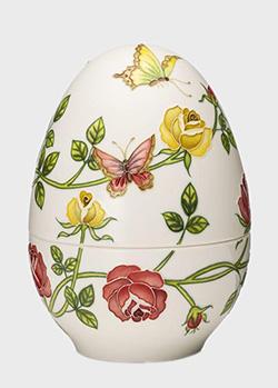Шкатулка-яйцо Palais Royal Розы и бабочки 18см, фото