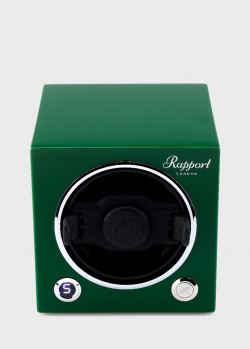 Шкатулка для подзавода и хранения часов Rapport Evo Cube зеленого цвета, фото