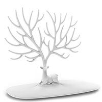 Подставка для украшений и аксессуаров Qualy Олень белого цвета, фото