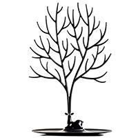 Высокая подставка для украшений и аксессуаров Qualy Олень черного цвета, фото