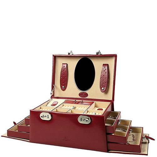 Шкатулка WindRose Merino для хранения украшений красного цвета, фото