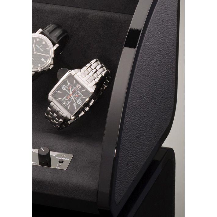 Шкатулка ElmaMotion Style для хранения и завода 4 часов с благородным блеском и кожаной отделкой