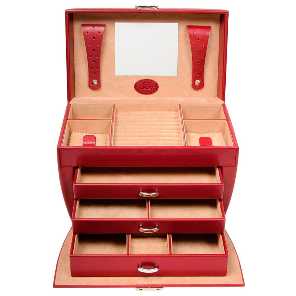Кейс WindRose Merino для украшений красного цвета
