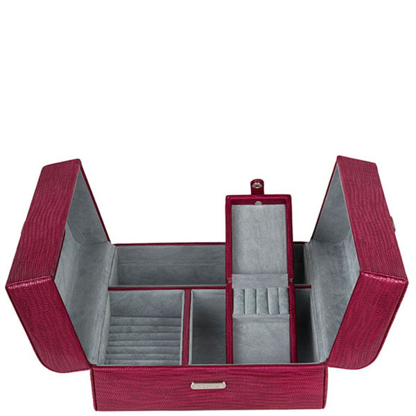 Кейс  для украшений WindRose Lezard красного цвета