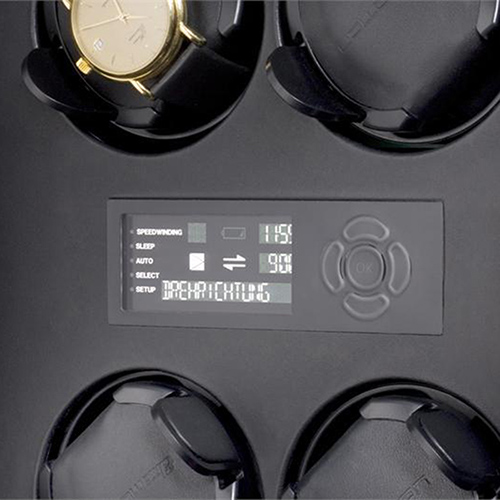 Шкатулка с автоподзаводом для хранения часов Elma Motion Corona VIII Piano Glass на 8ед, фото