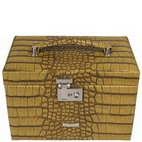 Кейс Windrose Kroko для украшений желтого цвета, фото