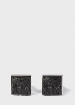 Квадратные запонки Lalique Arethuse Masque de Femme, фото