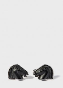 Запонки в виде коня Lalique Cheval Mascottes, фото
