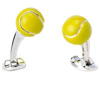 Запонки Deakin&Francis Silver в форме теннисного мяча, фото