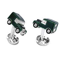 Запонки Deakin&Francis Silver Зеленый автомобиль, фото