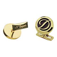 Круглые запонки S.T.Dupont с логотипом, фото