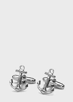 Серебряные запонки Maria Cristina Sterling Neptune в виде якоря, фото
