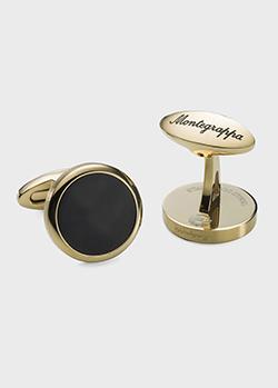 Позолоченные запонки Montegrappa Classico круглой формы, фото