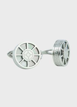 Круглые запонки Montegrappa Wheel с перламутром, фото