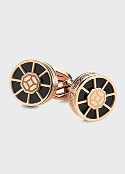 Позолоченные запонки Montegrappa Wheel с лазерной гравировкой, фото