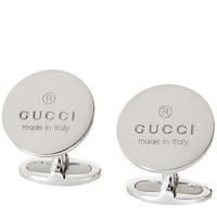 Запонки Gucci из серебра Trademark Round Motif, фото