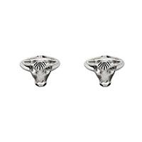 Серебряные запонки Gucci Anger Forest в виде бычьей головы, фото