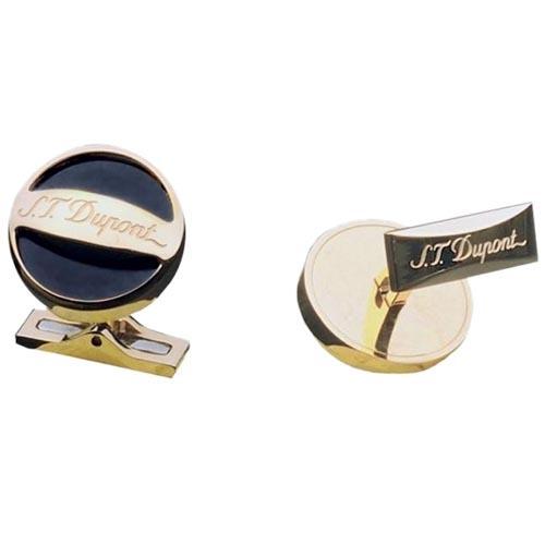 Круглые запонки S.T.Dupont с позолотой, фото
