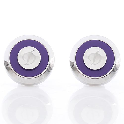 Запонки S.T.Dupont JET из стали фиолетового цвета, фото