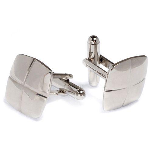Эффектные запонки Predan из белого металла, фото