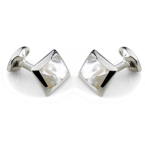 Запонки Deakin&Francis Silver продолговатой формы, фото