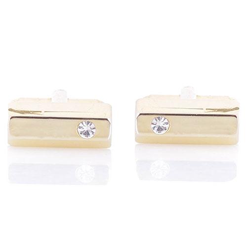 Золотистые запонки Predan с кристаллом Сваровски, фото