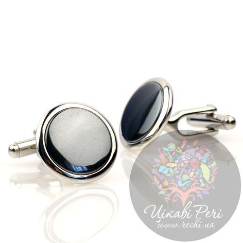 Запонки Dalvey Button Small с черным ониксом, фото