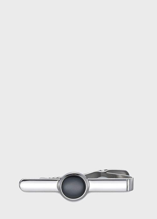 Зажим для галстука Button с черным ониксом , фото