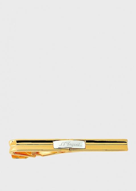 Зажим для галстука S.T.Dupont Gatsby с палладием и позолотой, фото