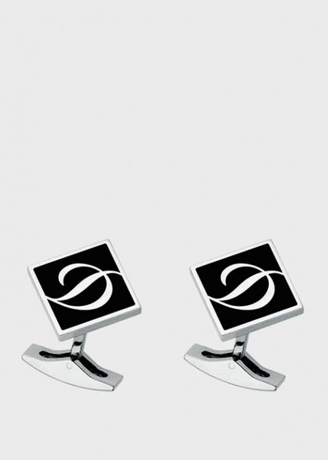 Запонки ромбовидные с логотипом, фото