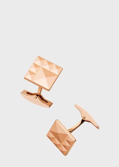 Запонки S.T.Dupont квадратные в розовом золоте, фото