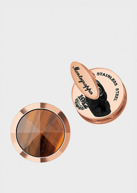 Запонки Montegrappa NeroUno с родиевым покрытием, фото