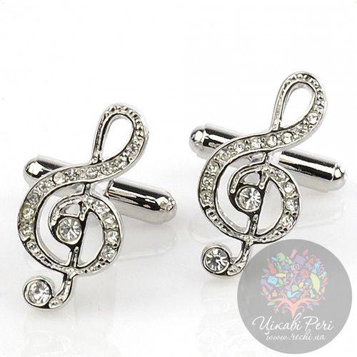 Запонки Интересные запонки в форме скрипичного ключа, фото