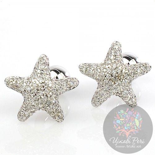 Запонки Интересные запонки в форме морской звезды, фото