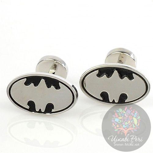 Запонки Интересные запонки в виде знака Бэтмена, фото