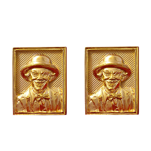 Серебряные запонки Silver Joy Джокер в позолоте, фото