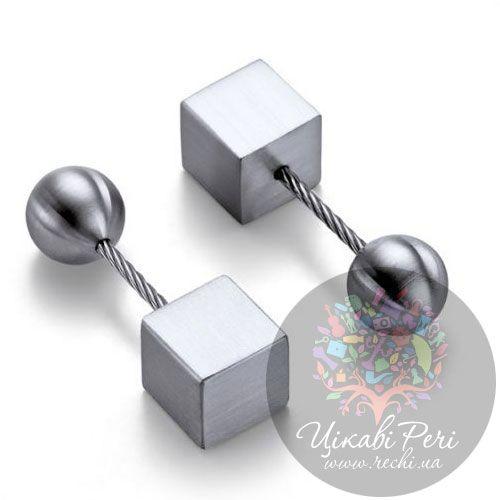 Запонки Philippi Wire Cube под гравировку, фото