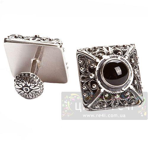 Серебряные запонки, фото