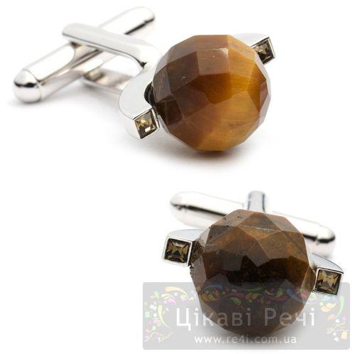Запонки Thompson of London Sphere с черным кристаллом Сваровски, фото