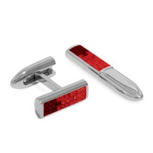 Запонки Sw Bullet красные, фото
