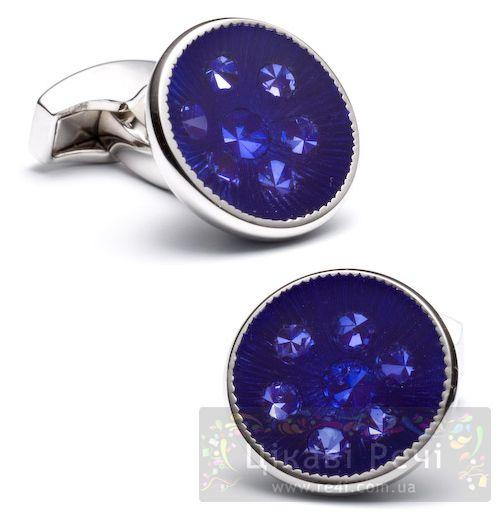 Запонки KALEIDOSCOPE ROUND фиолетовые, фото