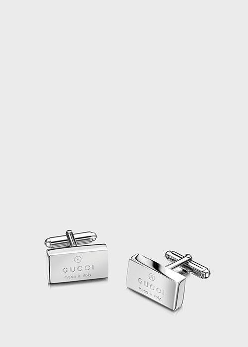 Запонки Gucci из серебра Trademark, фото
