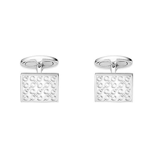 Мужские серебряные запонки Gucci Horsebit прямоугольной формы, фото