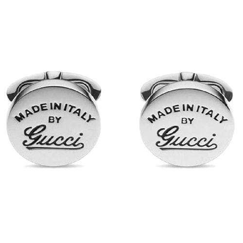Серебряные запонки Gucci с гравировкой ручной работы, фото