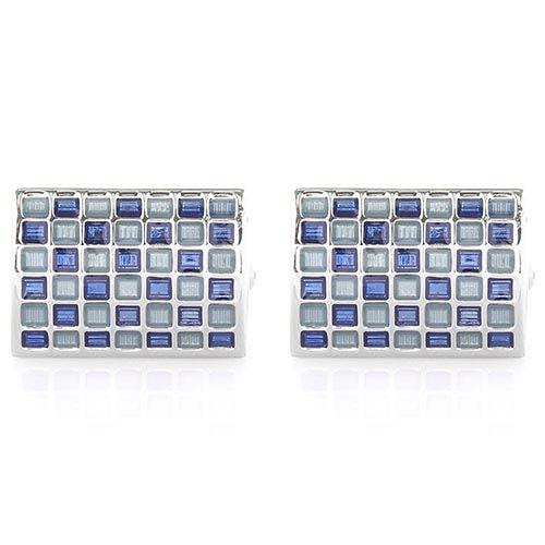 Запонки Jewels прямоугольные со стеклянной мозайкой, фото