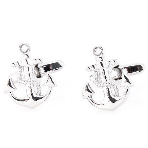 Запонки Jewels серебряного цвета в форме якоря, фото
