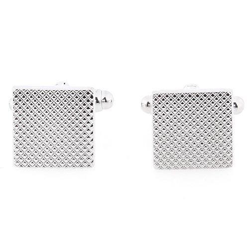 Запонки Jewels квадратной формы тисненые, фото