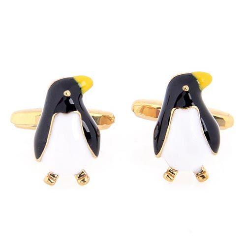 Запонки Jewels с цветной эмалью в виде пингвинов, фото