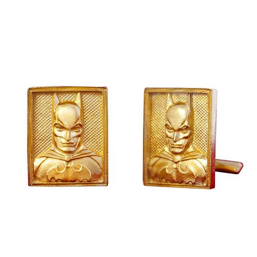 Позолоченые запонки Silver Joy Бэтмен, фото